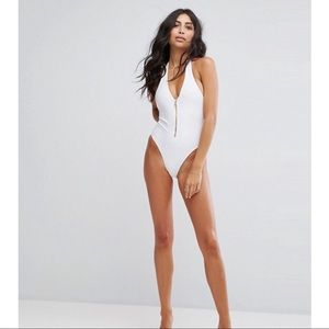 Plunge Neck Bathing Suit